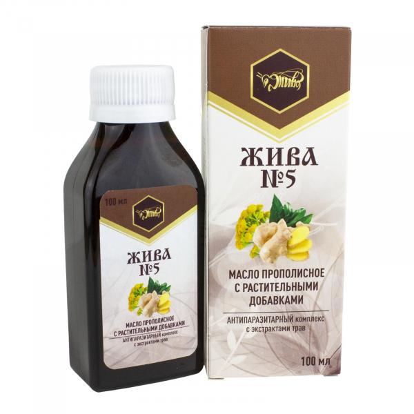 Пищевое масло от паразитов «ЖИВА №5»